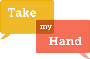 Take My hand Toma Mi Mano Logo